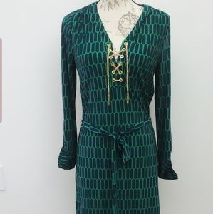 Michael Kors 3/4   Criss Cross Gold Chain Dress